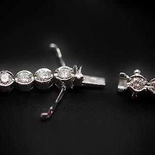 """Collier pendentif Tiffany & Co  """"Elsa Peretti""""  Or Jaune 18k et diamant."""