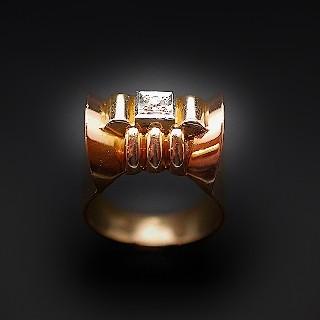Solitaire en platine avec Diamant brillant 2.51 Cts F-SI2 + 0.31 Cts.