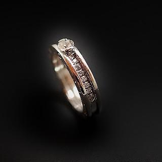 Collier Pendentif Diamant de 1.69 Cts J-VS1 . Or 18 Cts.