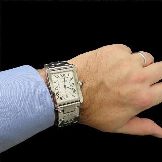 """Alliance Mauboussin 5 rangs Diamants Or gris 18 Carats  """"Je le Veux""""  Taille 55 à 57."""