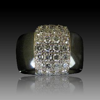 Puces d'oreilles Diamants 2 x 0.18 Cts G-VS en Or Jaune 18k