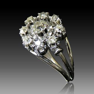 """Montre Boucheron """"Reflet"""" de Dame Moyen modèle acier et Diamants ."""