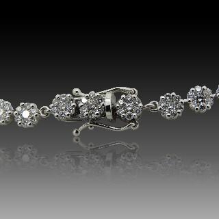 """Bague Bulgari en Or Gris 18 Cts Diamants modèle """"B-Zero-1"""" .Taille 54."""