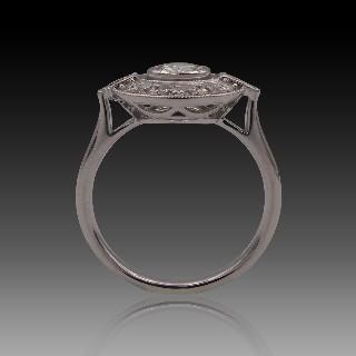 Alliance platine avec 2.30 Cts de Diamants Brillants G-VS . Taille 50.