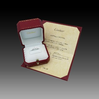 Alliance or gris 18k avec 1,68 Cts de Diamants Brillants . Taille 54.
