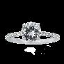 Bague en or gris 18k avec un Diamant Ovale Fancy de 2.29 Cts et + 2.50 Cts autour.
