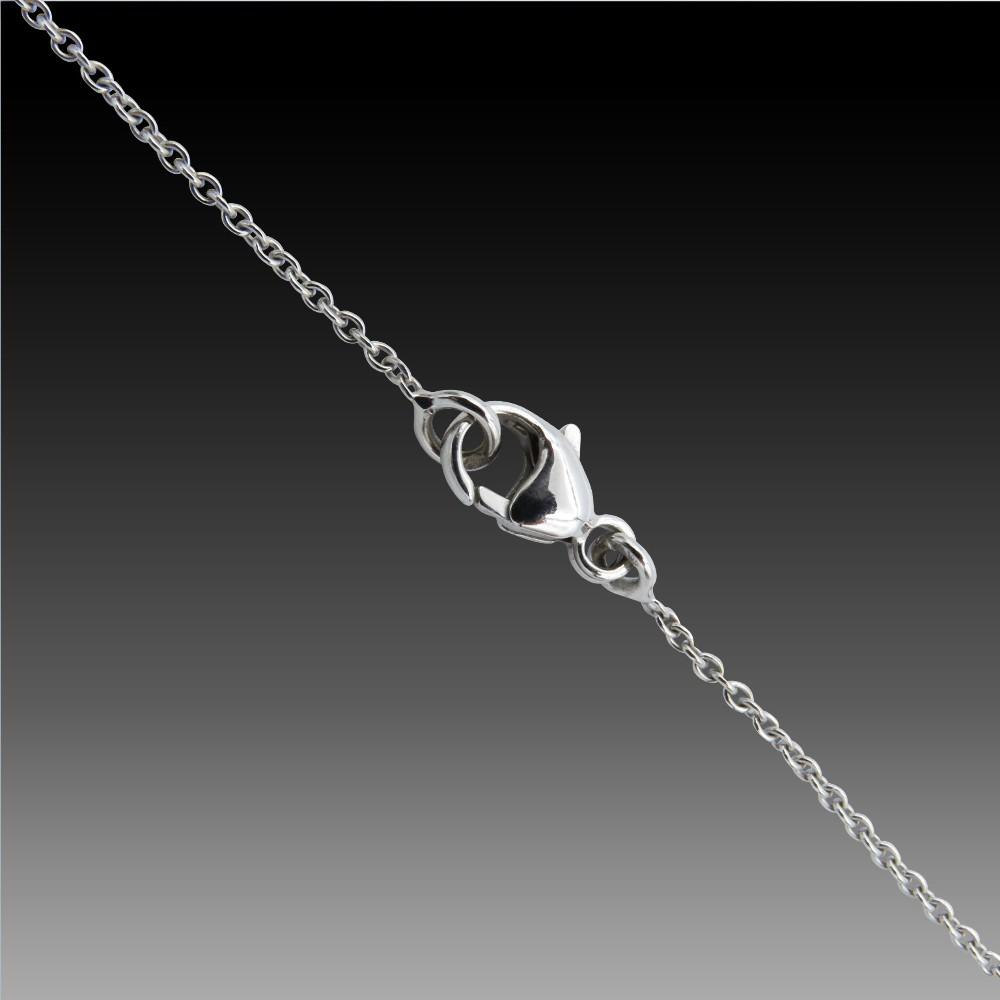 """Super Chaumet """"Lien"""" Platine et diamant 0.53 Cts . Taille LN61"""