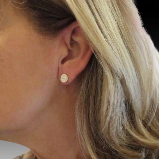 Alliance or gris 18k avec 1.79 Cts de Diamants Brillants G-VS. Taille 55.