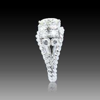 Bague Or Jaune 18K, Emeraude Colombie et Diamants brillants.