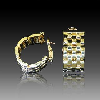 """Montre Boucheron """"Reflet"""" de Dame petit modèle acier et Diamants ."""
