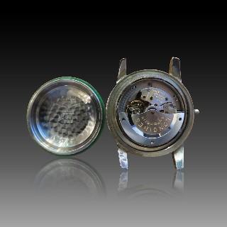 Solitaire platine Diamant Poire Ancienne de 1,84 Cts M-SI1.