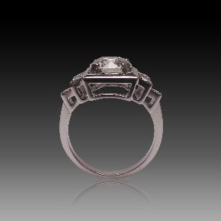 Bracelet de Perles de Culture 4 rangs 6.7 mm Or gris 18 k . 18 cm.