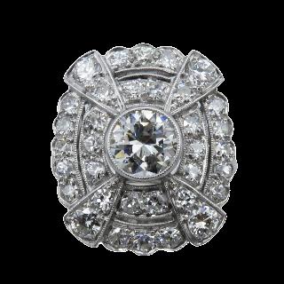 Solitaire en or 18k avec Diamant 0,40 Cts F-VS1 . (GIA) Taille 51.