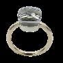 Bague Or Jaune marguerite 18K avec rubis fin et diamants brillants .Taille 54