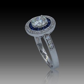 Bracelet dentité Bébé Chaumet Lien en or gris 18K diamants.
