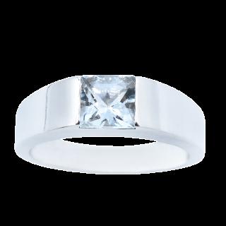 Alliance or gris 18k avec 3.40 Cts de Diamants Brillants H-VS. Taille 53-54.