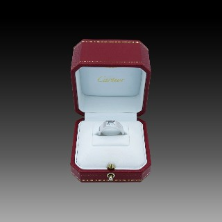 Solitaire Diamant brillant 1.18 Cts J-VS1 en Or 18 Cts + 0.36 Cts.