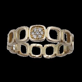 Solitaire Diamant brillant 0.57 Cts H-SI2 en Or gris 18 Cts