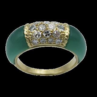 Alliance or gris 18k avec 3.42 Cts de Diamants Brillants G-VS. Taille 53-54.