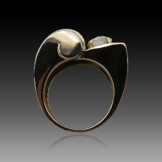 Boucle ceinture Tavannes pour Hermes en Argent transformée en Montre bracelet vers 1930.