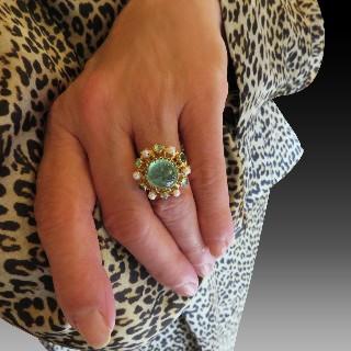 Bague Solitaire en platine et or 18k massif avec 1.15 cts de diamants. Taille 51