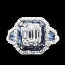 Solitaire en or gris 18k avec un Diamant brillant de 1.15 Cts G-VVS2