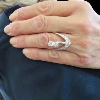 Bracelet en or gris 18 Cts avec 4.85 Cts de Diamants G-VS.