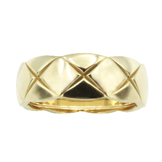 Demi Alliance avec 1.0 Cts de diamants en or jaune 18k . Taille 52.