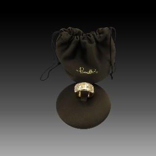Bague JEELL en céramique noire or gris 18k diamants. taille 52