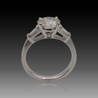 Solitaire Diamant 1.10 Cts H-VS2 en Or 18 Cts .Taille 52