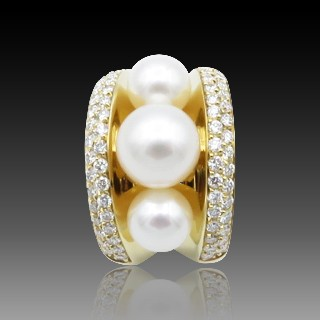 Solitaire Diamant 1.39 Cts L-VS2 en Or jaune 18 Cts . Taille 53-54.