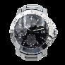Bague Jonc Or gris 18K avec saphirs, rubis, Péridots et diamants brillant G-VS. Taille 55