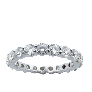 Alliance or gris 18k avec 6.0 Cts de Diamants Brillants G/H-VS. Taille 52.