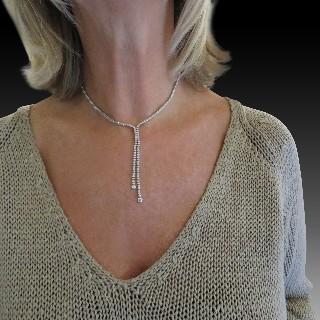 Alliance or gris 18k avec 2.60 Cts de Diamants Brillants 20 x 0.13 Cts H-VS. Taille 55