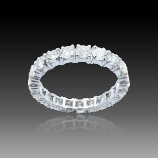 Solitaire Tiffany Platine Harmony , Diamant 0,33 Ct D-SI1 de 2015. Taille 46.