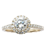 Solitaire en Or gris 18 Cts avec Diamant brillant 0.76 Cts E-VS1 + 0.38 Cts.