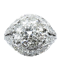 Solitaire Diamant brillant 1.66 Cts F-VS2 en Or gris 18 Cts