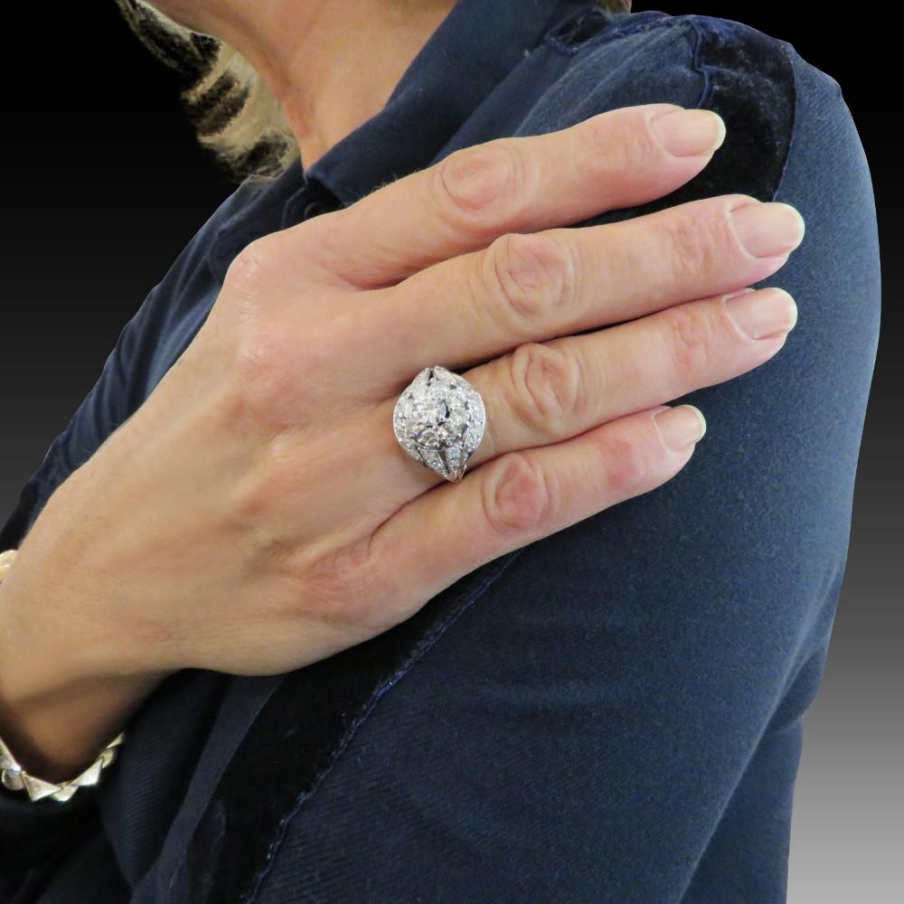 Solitaire en Platine avec Diamant de 3.02 ct I / VS1 de type 2a .certificat LFG