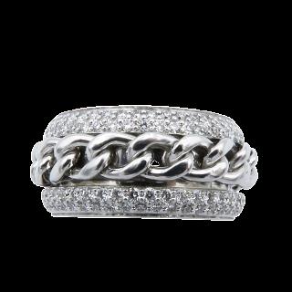 Bague Cartier Love Médium Or jaune 18K et Diamants Vers 2005 Taille 52.