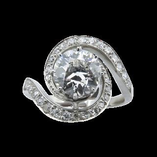 """Boucles d'oreilles Bulgari """"B zero 1 """" en Or gris 18 Cts  avec diamants vers 2014 ."""
