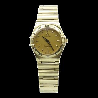 Montre Omega Dame Constellation de 2000 Or jaune 18k Massif Quartz.