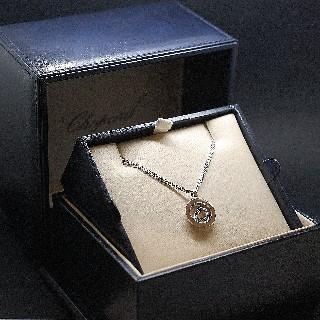 Pendentif Chopard Happy Diamonds Or jaune 18k Diamants .