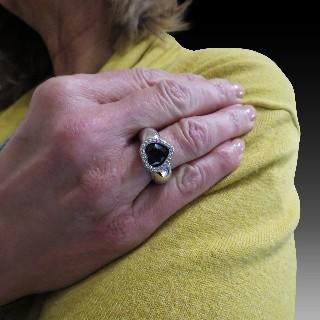 Solitaire Tiffany Platine Harmony , Diamant 0,24 Ct E-VS1 de 2016. Taille 49,5.