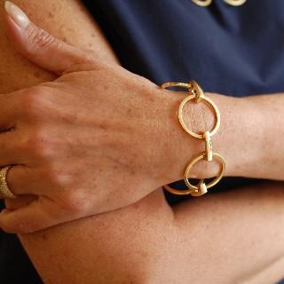 """Bracelet Boucheron """"Madone"""" Or 18k Boite et Papiers d'origine."""