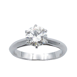 Solitaire Diamant 1.05 Cts H-VS1 en Or 18 Cts . Taille 51.