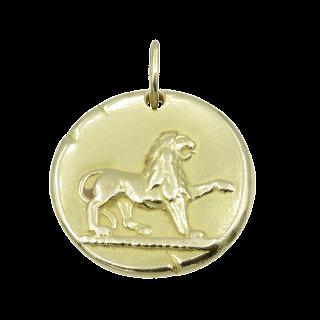 """Médaille Zodiaque Van Cleef & Arpels """"Lion"""" en Or jaune 18k massif vers 1970."""