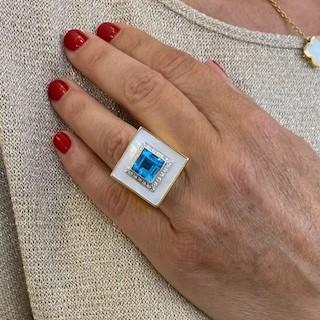 """Alliance Chaumet """"Full Pavé"""" or jaune 18k diamants avec 1,80 Cts. F-VVS . taille 50."""