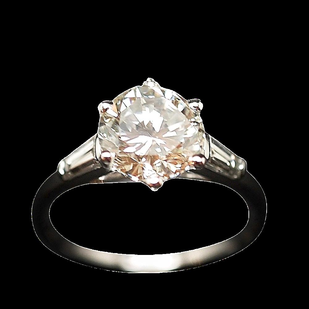 Solitaire Diamant de 2,12 Cts J-VVS2 en or 18 Cts.
