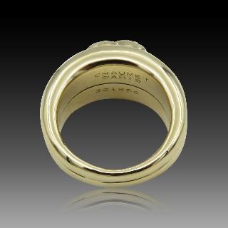 Bague Chanel Ultra Grand Modèle Or gris 18k Céramique. Taille 53
