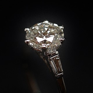 Solitaire Diamant de 1.57 Cts I-VS1 . Or 18 Cts.